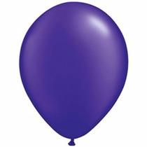 50 Globos Violeta Perlado 12