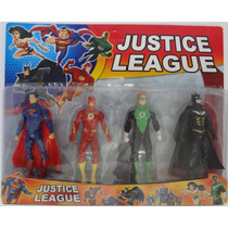 Kit Liga Da Justiça Batman, Lanterna Verde, Flash, Superman