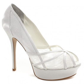 Sapato De Noiva Laura Porto Renda E Cetim | Zariff