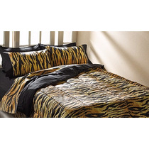 Acolchados Animal Print Doble Faz 2 1/2 Plazas