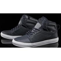 Zapatillas Vans De Cuero Azul Navy 100% Originales
