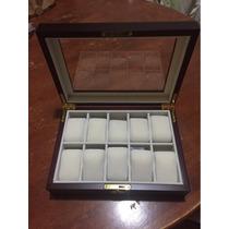 Finísimo Estuche/caja De Madera Para Guardar 10 Y 12 Relojes