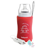 Calienta Mamadera Biberón Rojo Para Auto 12 Volt Babypack