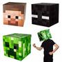 Cabeza Minecraft Enderman Cotillon Disfraz