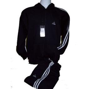 Conjunto Adidas Campera Mas Pantalon, 100 % Algodon Frizado.