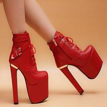 Botas De Salto Alto Chunky Ankle - Importados