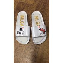 Chinelo Sandalia Melissa Beach Slaide Mickey Minnie Original