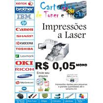 Impressão P&b, Xerox, A4 R$ 0,08 Cada