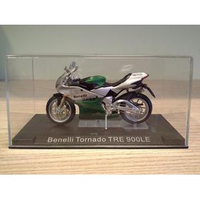 Miniatura Moto Benelli Tornado Tre 900le Verde Escala 1:24