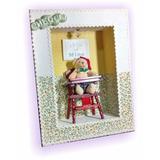 Quadro Miniatura Porta De Maternidade Urso Unissex 27x22 Cm