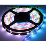 Rollo De Leds Con Movimientos Inteligentes Color Blanco ,rgb