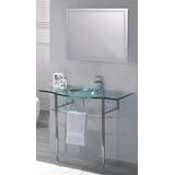 Mueble De Baño Bacha+mesada Vidrio Templado.