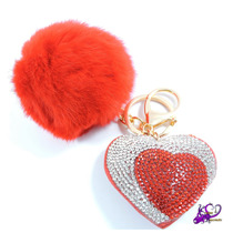 Pompón Corazón Llavero Bisutería Accesorio Bolso Navidad