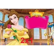 Kit Imprimible Princesa Bella Cumpleaños Fiesta Torta 2x1