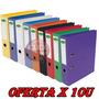 Bibliorato Forrado Pvc Color A4 / Oficio Oferta X 10u