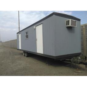 Remolque Caseta Camper Oficina Movil Nva 8x32 Pies Wc Y Priv