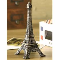 Enfeite Miniatura Torre Eiffel Metal Paris Decoração 18cm