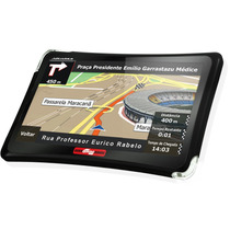 Gps Automotivo 4.3 Guia 4 Rodas Preto - Aquarius