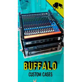 Flight Cases Para Mixer 16 Canales Y Rack De 6 Espacios