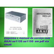Manual Serviço Receiver Akai Aa1135 Aa1150 Aa 1150 Aa 1135