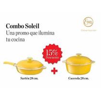 Combo Soleil Cacerola Y Sarten 28 Cm. C/ Antiadherente Essen
