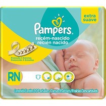 160 Pañales Pampers Recien Nacido Suave (3 A 6 Kg)