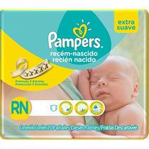160 Pañales Pampers Recien Nacido Suave (3 A 6 Kg)
