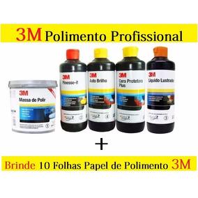 Kit Polimento Profissional 3m Completo + Papel De Polimento