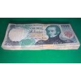 Billetes De 2000 Bolivares De Junio 16 De 1997 Serie B8