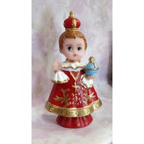 Imagem Infantil - Menino Jesus De Praga - Resina - 8cm
