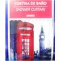 Cortina De Baño Londres Cabina Telefonica Big Ben