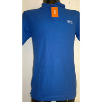 Camisa Playera Tipo Polo Hugo Boss Color Azul Marino