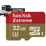 Memoria Micro Sd Hc Sandisk Extreme 32gb U3 C-10 V30 Gopro