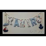 Cartel Nombre Bebe Cuarto Deco Babyshower Cumpleaños