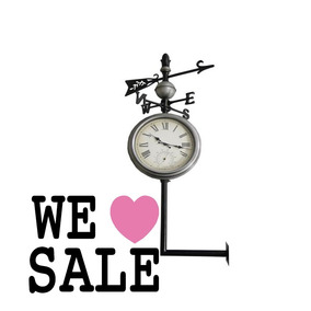 Relógio Externo Termômetro Rosa Dos Ventos 119x54x54cm Promo