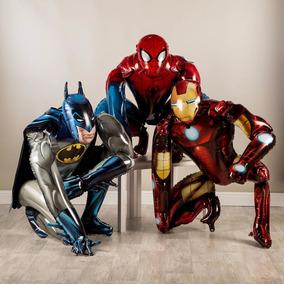Globo Caminante Spiderman Batman Ironman Hombre Araña Deco