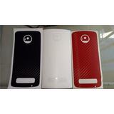 3 Skin Para Moto Z / Moto Z Play Color A Elección.rojoblanco