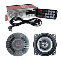 Kit Autofalantes Mini Modulo 2 Canais Controle Remoto