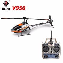 Helicóptero V950 6ch 3d Brushless Flybarless 46cm Completo
