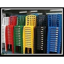 6 Jogos De Mesa C/ 24 Cadeiras Amarela De Plásticoempilhavél
