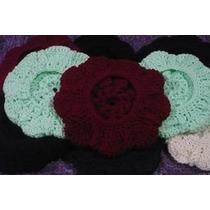 Boinas Con Relieve Tejidas Al Crochet Lote X15unidades
