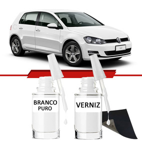 Tinta Tira Risco Automotivo Volkswagen Golf Cor Branco Puro