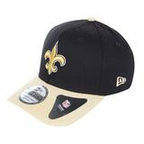 Boné Masculino New Era 3930 Team New Orleans Saints Preto