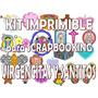 Kit Imprimible Scrapbooking Virgencitas Y Santitos