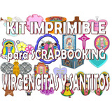 Kit Imprimible Scrapbooking Virgencitas Y Santitos