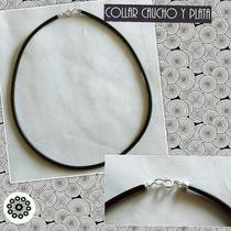 Collar Caucho Cierre Plata 900