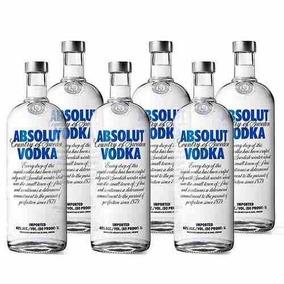 Vodka Absolut - 1l- Caixa Com 6 Unidades