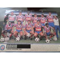 Poster Placar Bahia Campeão Brasileiro 1988 21x27cm