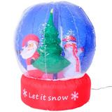 Bola De Nieve Pascuero Inflable Decorativo Navidad