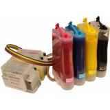 Sistema Continuo Hp A3 7110 7610 8100 8600 Tinta Pigmentada